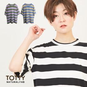 Tシャツ - TOTTY カレッジボーダー Tシャツ