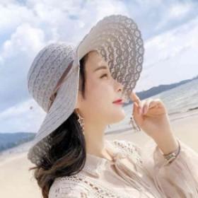 飛ばないナチュラルブリム日よけm0601 日焼けグッズ つば広ハット 麥わら帽子折りたたみ可 女性用サンバイザー 夏収納 帽子レLLPH-0213