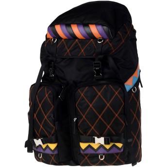 《期間限定セール開催中!》PRADA メンズ バックパック&ヒップバッグ ブラック 紡績繊維