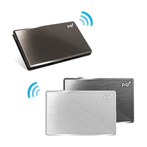 [富廉網] 【PQI】Air Drive 無線Wifi讀卡機 A100 32G 黑/銀