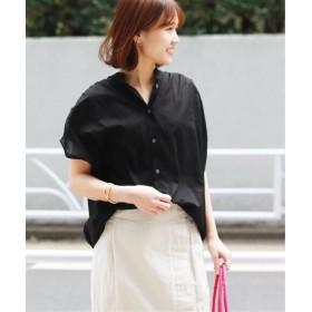 JOURNAL STANDARD 80ローンムジドットギャザーシャツ◆2 ブラック フリー