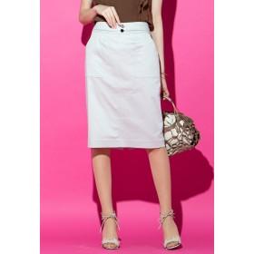 VICKY 【WEB別注】サテンタイトスカート その他 スカート,ベージュ
