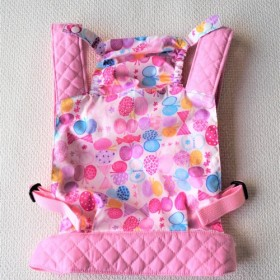 ★フード付き お人形抱っこ紐 おんぶ紐★ フード付き抱っこ紐 可愛い蝶々とキャンディー柄