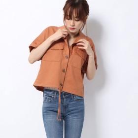 レトロガール RETRO GIRL 裾ドロスト半袖SH (ORG3)