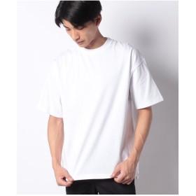 koe ラグビージャージコットンサイドスリットTEE(ホワイト)【返品不可商品】