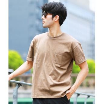ジギーズショップ ルーズシルエットTシャツ / Tシャツ メンズ ティーシャツ 半袖 クルーネック メンズ ベージュ L 【JIGGYS SHOP】