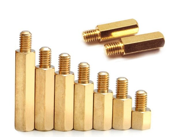 M2.5*25+5mm 六角銅柱 單頭銅柱 隔離柱 / M2.5系列六角一公一母銅螺柱-50入/包(含稅)【佑齊企業 iCmore】