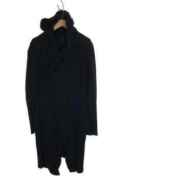 roque ILARIA NISTRI 切替スナップボタンフーデッドコート ダークネイビー サイズ:40 (三宮店) 190704