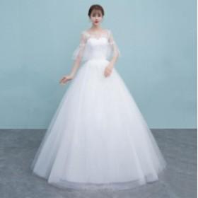 プリンセス パーティードレス マキシ丈 結婚式 お呼ばれ 二次會 大きいサイズ フォーマル イブニングドレス ウエディングドレス