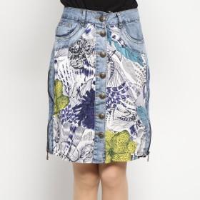 デシグアル Desigual スカート膝 (ブルー)