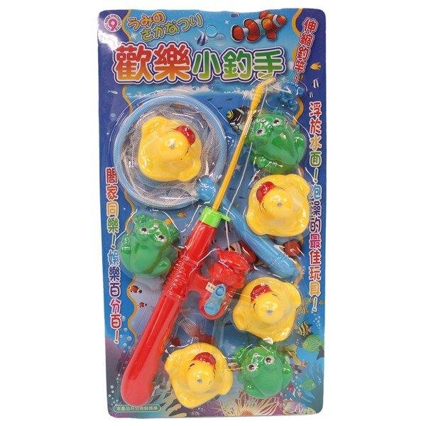 黃色小鴨 青蛙釣魚組 日系 歡樂小釣手 (9件入)/一卡入(促150) ST安全玩具 鴨子 青蛙釣釣樂 戲水童玩釣魚組-生8003(D359)