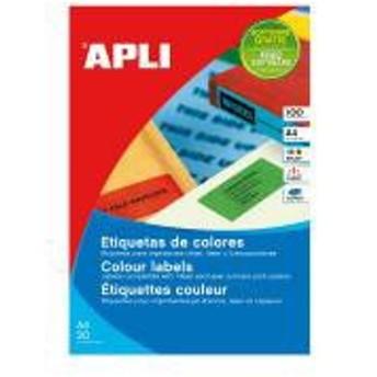 【送料無料】APLI マルチA4カラーラベル 100枚24面 70×37mm「他の商品と同梱不可/北海道、沖縄、離島別途送料」