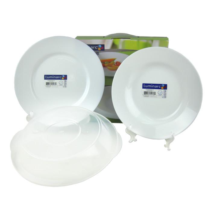法國luminarc樂美雅純白強化餐盤三件組