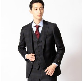【COMME CA MEN:スーツ・ネクタイ】CERRUTI社イルプリンチペチェックセットアップジャケット