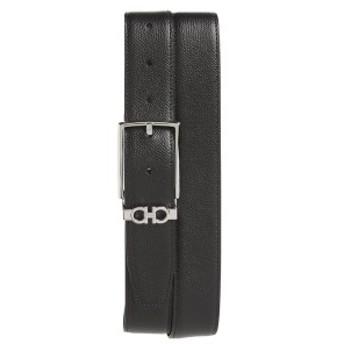サルヴァトーレ フェラガモ メンズ ベルト アクセサリー Salvatore Ferragamo Reversible Leather Belt Nero / T.Moro