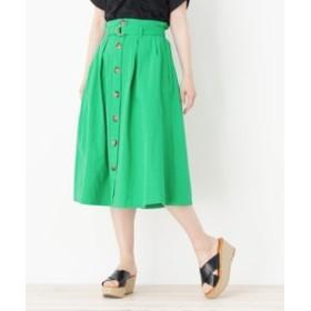 【SALE開催中】【pink adobe:スカート】◆ベルト付きフロントボタンスカート