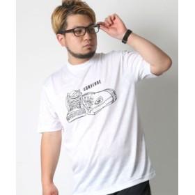 (MARUKAWA/マルカワ)【CONVERSE】 大きいサイズ メンズ コンバース Tシャツ 半袖 吸汗速乾 プリント ドライ ブランド/メンズ ホワイト