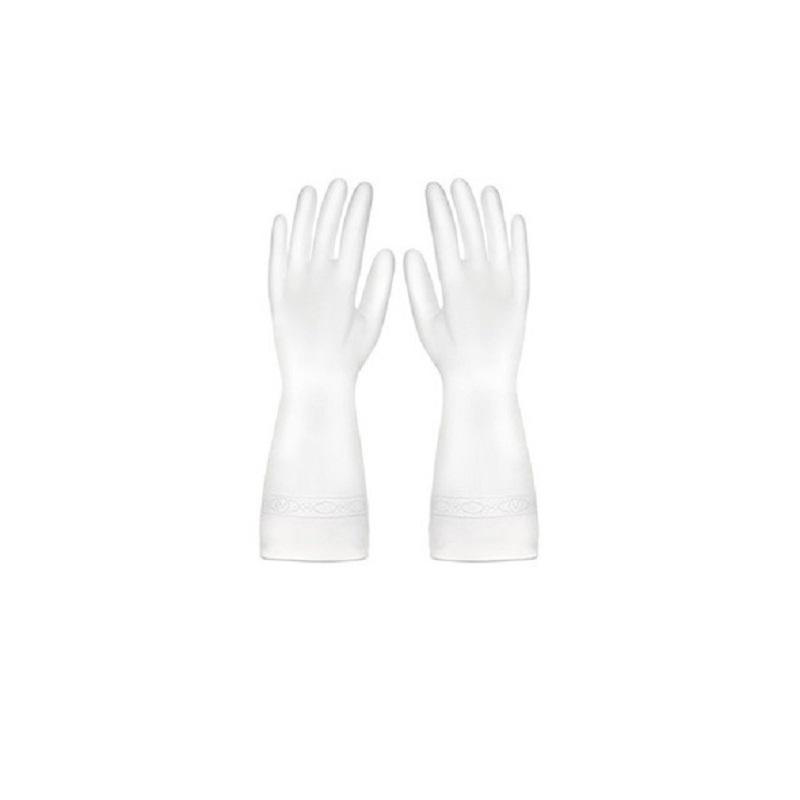 矽膠手套sg595 不傷手高透防水家務手套廚房清潔耐用膠手套家用洗衣洗碗膠皮手套