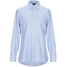 《送料無料》LORENZINI メンズ シャツ アジュールブルー 41 コットン 100%