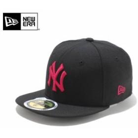 【メーカー取次】NEW ERA ニューエラ Kid's キッズ用 59FIFTY MLB ニューヨーク ヤンキース ブラックXストロベリー 11310407 キャップ