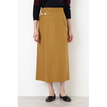 タイプライタースカート キャメル1