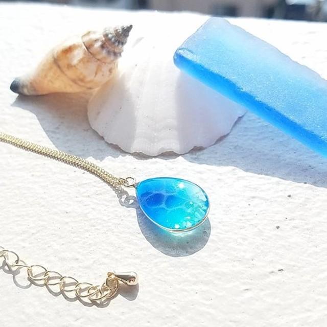 キラキラ海のネックレス