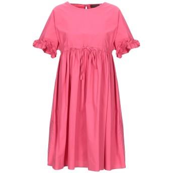 《セール開催中》TWINSET レディース ミニワンピース&ドレス フューシャ 40 コットン 97% / ポリウレタン 3%