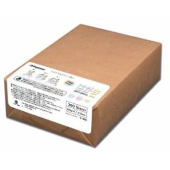 【送料無料】長門屋商店 美彩紙 はがきサイズ(両面無地・ホワイト) 200枚包 ナ-969「他の商品と同梱不可/北海道、沖縄、離島別途送料」