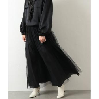 NOBLE 【N.Jam】リバーシブル ギャザーマキシスカート ブラック 36