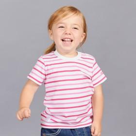 ミキハウス ボーダー半袖Tシャツ ピンク