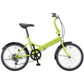 折りたたみ自転車 キャプテンスタッグ ライヤー FDB206 折り畳み自転車 20インチ 6段変速 軽量 20インチ グリーン