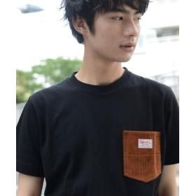 (coen/コーエン)【女性にもオススメ】SMITH別注コーデュロイポケットTシャツ/ユニセックス BLACK