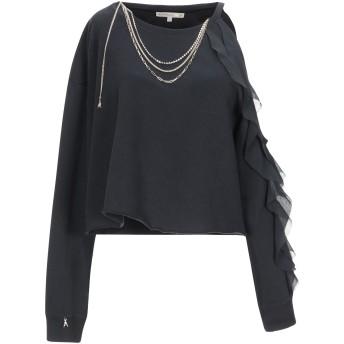 《セール開催中》PATRIZIA PEPE レディース スウェットシャツ ブラック 1 コットン 100% / ポリエステル / ポリウレタン