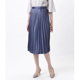 NEWYORKER / 【オフシーズンセール】【店舗限定】サテンロングプリーツスカート