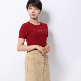 スピーガ SPIGA 胸ロゴ無地Tシャツ (ボルドー)