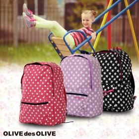 リュック リュックサック カバン 鞄 バッグ 遠足 ピクニック 超軽量 女の子 スター ドット オリーブデオリーブ M サイズ OLIVE-36022