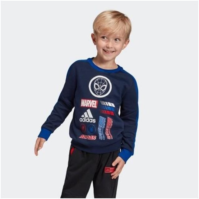 セール価格 アディダス公式 ウェア トップス adidas マーベル / スパイダーマン クルー スウェットシャツ / Marvel Spider-Man Crew Sweatshirt