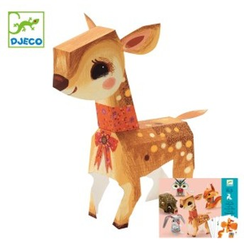 ペーパークラフト ペーパートイ プリティウッド 動物 子供 知育玩具 ジェコ DJECO