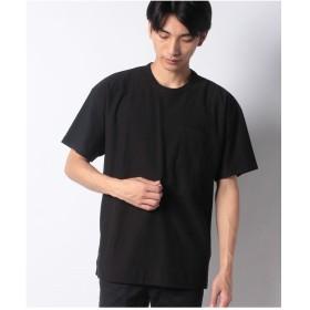 koe 脇スリット半袖ポケTEE(ブラック)【返品不可商品】