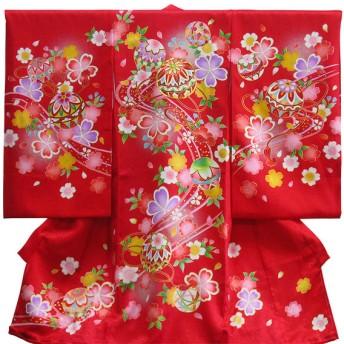 女児祝着 春-161 赤 お祝いイベント お宮参り・お食い初め お宮参り和装 (7)