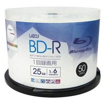 BD-R 25GB 1-6倍速対応50枚 L-B50P