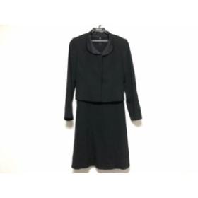 ソワール ペルル SOIR PERLE ワンピーススーツ サイズ7 S レディース 美品 黒【中古】