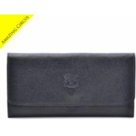 イルビゾンテ IL BISONTE 財布 レディース メンズ ユニセックス 三つ折り長財布 ブラック C0775 P 153