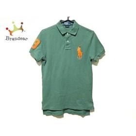 ポロラルフローレン 半袖ポロシャツ サイズS メンズ ビッグポニー ダークグリーン×オレンジ  値下げ 20190920