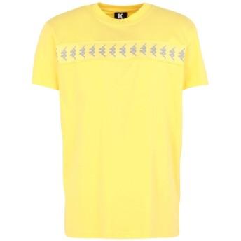 《セール開催中》KAPPA KONTROLL メンズ T シャツ イエロー S コットン 100% KONTROLL REFLECTIVE BANDA