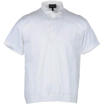 《9/20まで! 限定セール開催中》EMPORIO ARMANI メンズ ポロシャツ ホワイト 3XL コットン 100%