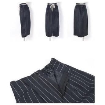 ユアーズ ur's ストライプタイトスカート (ベージュ)