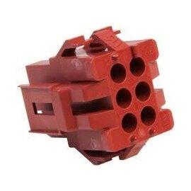1-640520-0 6P HOSING TE / Tyco AMP_ MR II 棕色(豬肝色)連接器【ROHS】--含稅【佑齊企業 iCmore】
