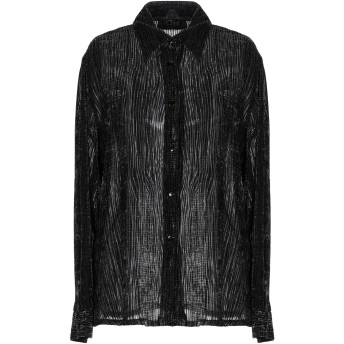 《期間限定セール開催中!》CLIPS レディース シャツ ブラック 46 レーヨン 70% / ポリエステル 30%