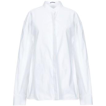 《セール開催中》JIL SANDER レディース シャツ ホワイト 40 コットン 96% / ポリウレタン 4%